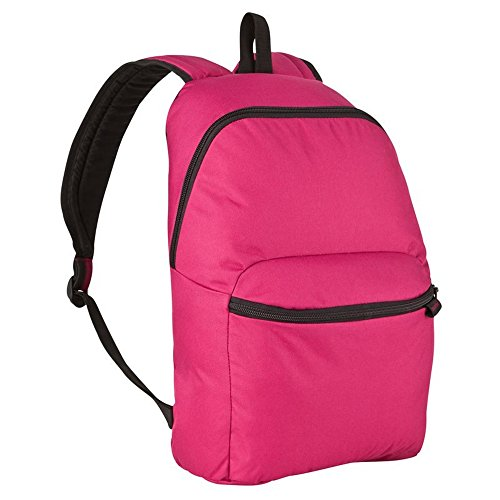 Mochila de senderismo NEWFEEL de 17 litros / mochila para camping al aire libre, festivales, escuela–bolsa práctica de viaje, rosa (negro) - NEWFEEL