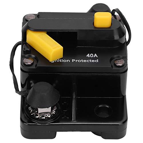Changor Tenedor de Fusible de Interruptor automático de sobrecorriente 40A DC12-42 V, Circuito de Falla a Tierra DC12-42 V -32 ° C-82 ° C 40A Cobre Hecho