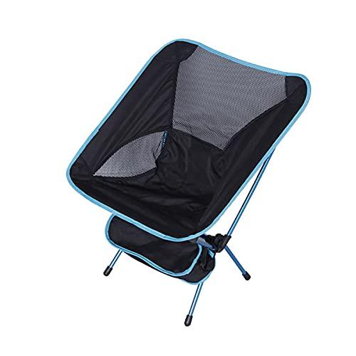 PDVCB Silla Plegable portátil para Acampar Ultra luz Aleación de Aluminio Marco con Bolsa de Almacenamiento Silla de Camping Silla de Espacio Plegable al Aire Libre Rojo Azul Silla de Jardin