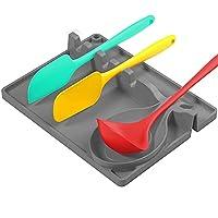 poggia utensili cucina in silicone, posa porta utensili da cucina in silicone resistente al calore e senza bpa, il porta utensili da cucina serve per posizionare cucchiai, mestoli, pinze, ecc.