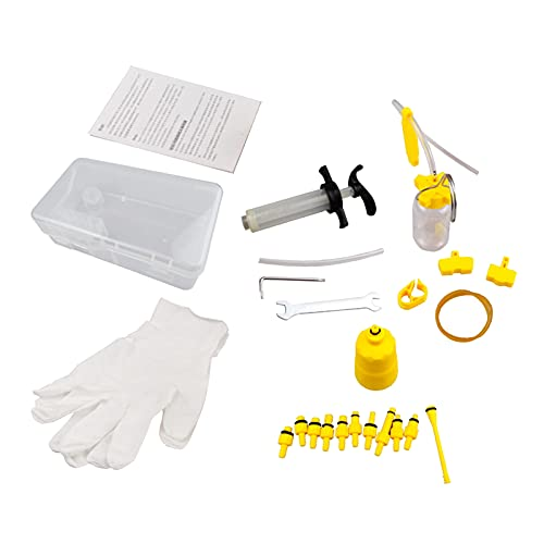 chiwanji All in One Hydraulic Brake Oil Bleed Kits Bicycle Injecting Funnels Set