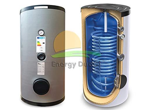 Bollitore accumulo vetrificato 500 lt, 2 scambiatori fissi per produzione acqua calda sanitaria solare termico integrazione caldaia