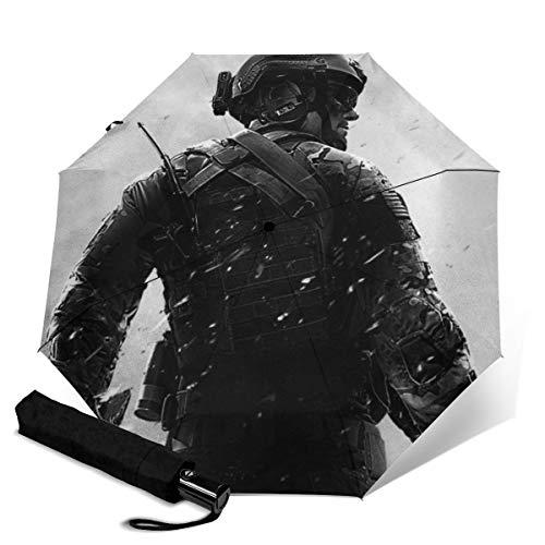 Call of Duty Paraguas automático de tres pliegues unisex impreso manual paraguas...