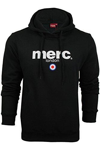 Merc of London Pill, Hooded Sweatshirt Sudadera, Negro, XL para Hombre