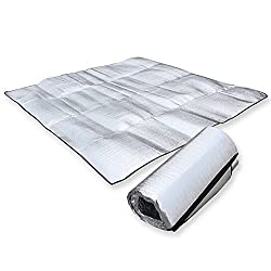 commercial reflective tanning mat Awakingdemi Waterproof Aluminum Foil EVA Sleeping Mattress Outdoor Camping Hiking Travel Picnic Silver (12M)