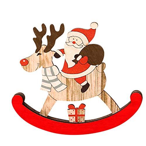 Zuhause Weihnachten Deko Kreative Wanduhr Weihnachts Geschenke Retro Hang Uhr Weihnachtsmann Schneemann Wohnzimmer Schlafzimmer Kinderzimmer Kindergarten Deko Weihnachtsschmuck (Weiß)