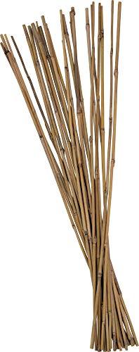 Tonkinstäbe 75-120 cm Bambusstäbe Pflanzstäbe Rankhilfe Pflanzhilfe (100 Stück Ø 8-10 mm x 90 cm)