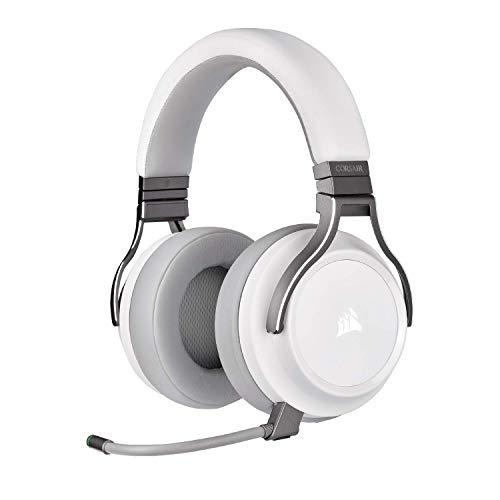 CORSAIR Virtuoso RGB Wireless High-Fidelity Gaming Headset, White, CA-9011186-NA (Renewed)