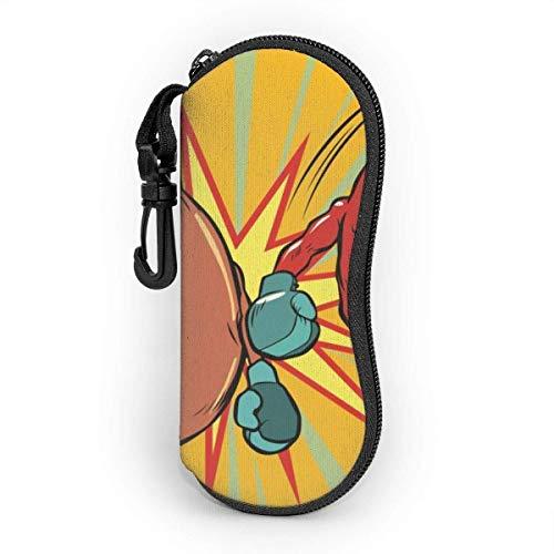 SDFGJ Gafas de sol Estuche blando Neopreno ultraligero Boxeo Chili Hot Dog Estuche para anteojos con cremallera y clip para cinturón