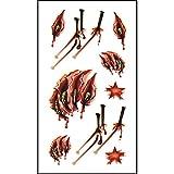 Decoración de Halloween Halloween Terror Lesión Realista Lesión de sangre Scar Scar Fake Tattoo Etiqueta engomada sangrienta Maquillaje Impermeable Pegatina Tatuaje Temporal Suministros de fiesta de H