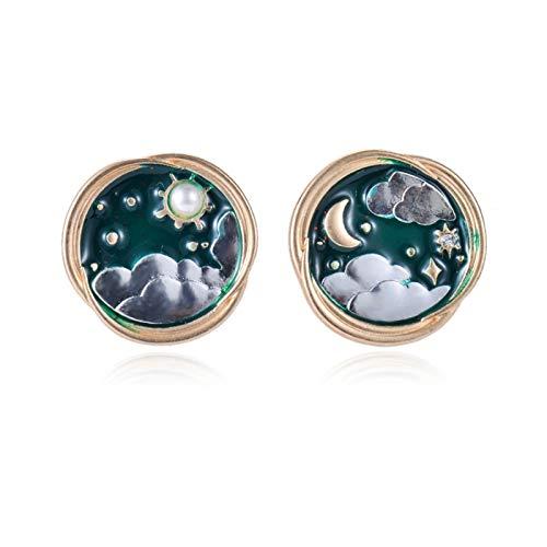 DSJTCH Fashion Stud Pendientes Geométrico Piercing Pendientes Pendientes para Mujeres Vintage Girls Boda Joyería Regalos (Metal Color : Style 1)