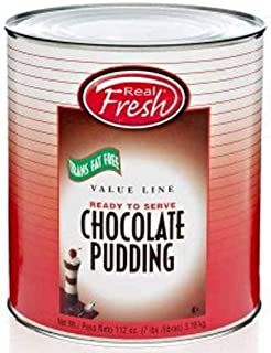 Real Fresh Cafe Classic Trans Fat Free Chocolate Pudding, 7 Pound -- 6 per case.