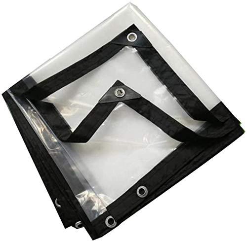 Waterproof Heavy Duty Transparent Tarps,Rainproof Cloth Waterproof Sunscreen Tarpaulin Partition Curtain,Vegetable Shed,Tent,Curtain,4x6m