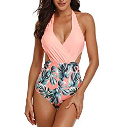 DESIGN: This wimwear has Removable padding bra, adjustable halter. It is suitable for most people's body.The high-waist design pulls up the waistline and reveals the slimmest waist. The hollowing on both sides makes you look more sexy FABRIC: We use ...