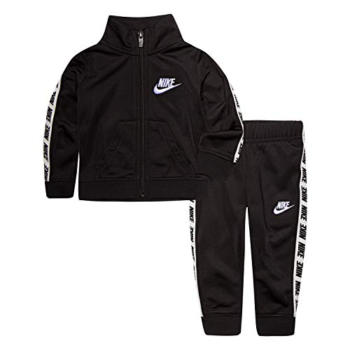 Nike Baby Girls Tricot Track Suit 2-Piece Outfit Set, Black, 24M