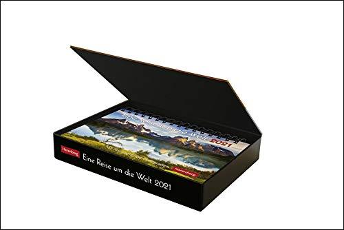 Eine Reise um die Welt Premiumkalender 2021 - Tagesabreißkalender zum Aufstellen - Tischkalender mit hochwertigen Farbfotografien - in Geschenkbox - Format 23 x 17 cm