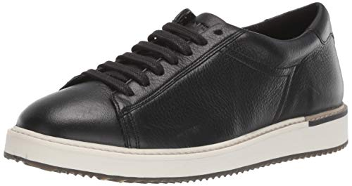 Hush Puppies Women's Sabine Sneaker, Black Leather, 10.0 M US