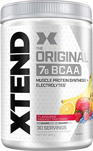XTEND Original BCAA Powder Fruit Punch | Branched Chain Amino Acids Supplement | 7g BCAAs + Electrolytes for Recovery & Hydration | 30 Servings | Packaging May Vary