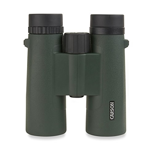 Carson JR Series 10x42mm Full Sized Waterproof Binoculars for Bird Watching, Hunting, Sight-Seeing, Surveillance, Concerts, Sporting Events, Safaris, Camping, Travel and Outdoor Adventures, Green