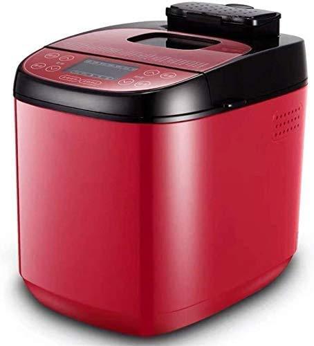 Breadmaker automática de Funciones predefinidas 12, Fast Intelligent la Cocina casera de panadería digitalización panificadora, leilims 550W (Color: Rojo)