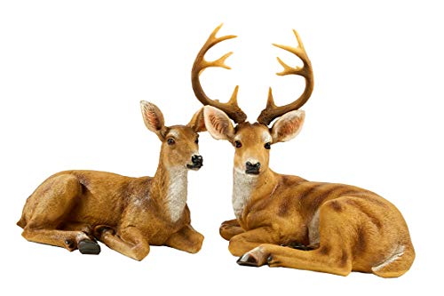 JHVYF Doe & Buck Statue Resin Garden Animal Decoration Art Décor for Indoor Home Ornaments Office