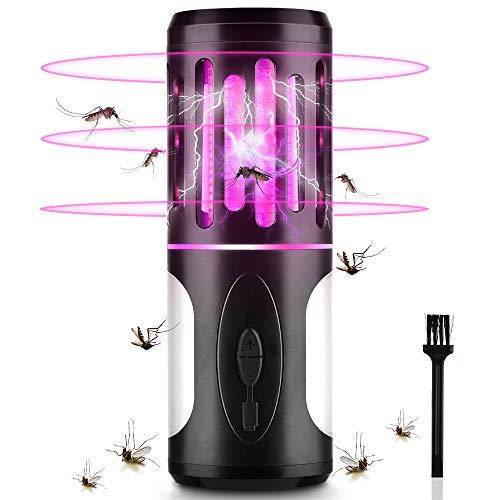 BASEIN Lámpara Antimosquitos Electrico 2 en 1, Asesino de Mosquitos con Lámpara De Camping y Linterna, Mata Mosquitos Insectos Moscas, Lámpara Camping Antimosquitos Impermeable para Exterior Interior