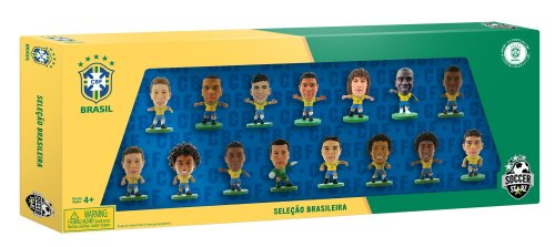 Soccerstarz - 400 608 - Statuetta - Sport - Confezione da 15 Dati Ufficiali del Team di dal Brasile