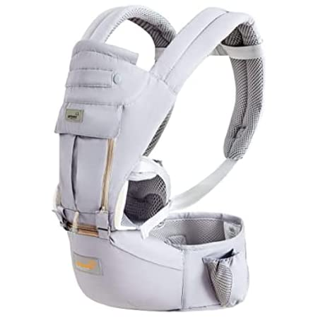 Baby Carrier Wrap Newborns to Toddler with Hip Seat Lumbar Support Perfect for 7-66lbs All Seasons All Position
