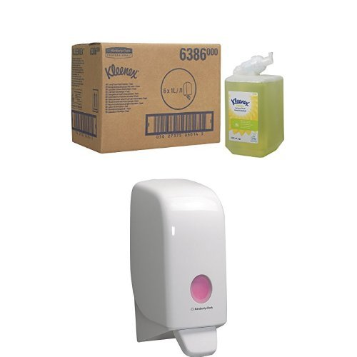 Kleenex 6386 FRESH Luxuriöse Duftschaumseife, 1 L, Grün (6-er Pack) Plus Spender