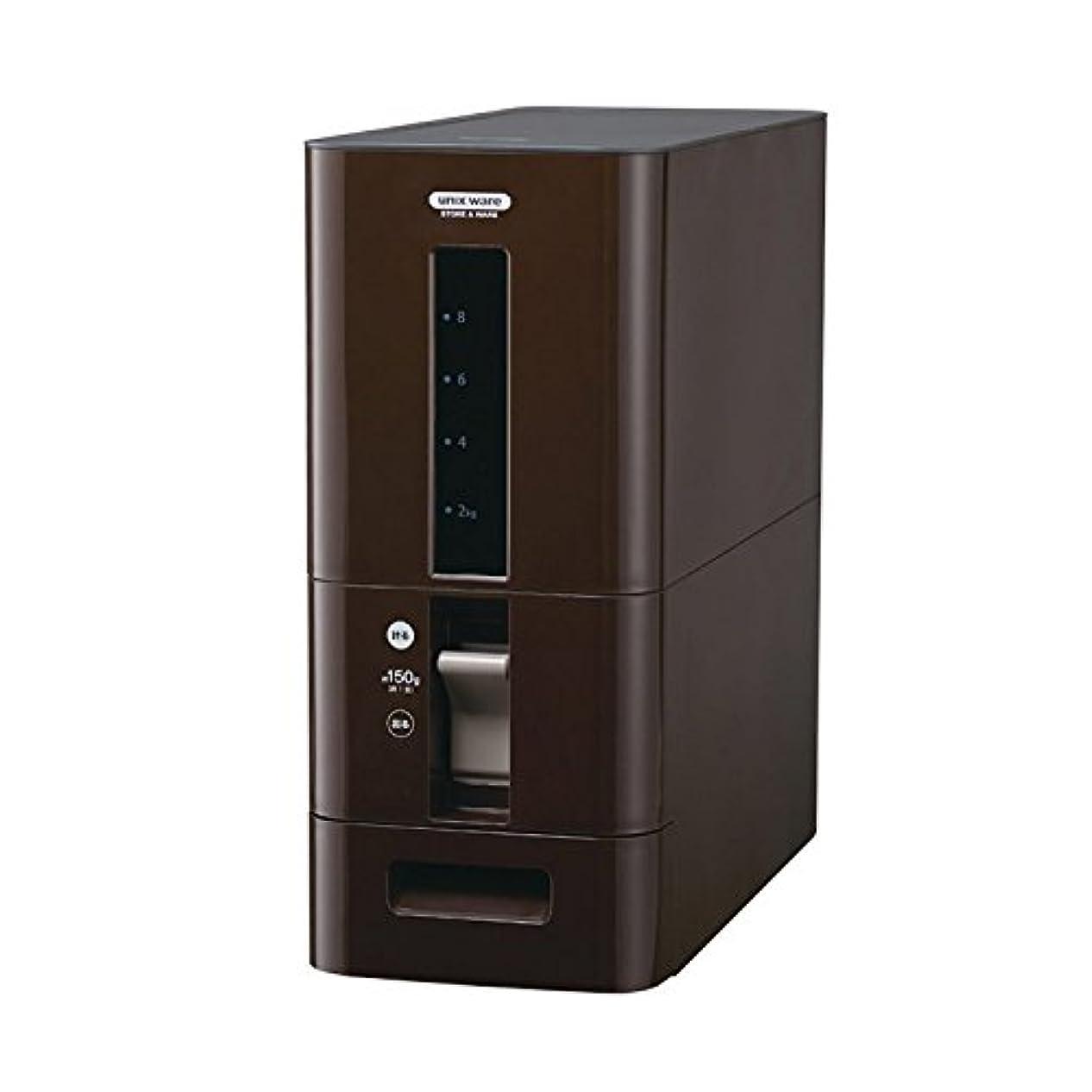 トラフカラスれんがS計量米びつ12kg型 | ライスストッカー 米櫃 ライスボックス こめびつ キッチン収納 保存容器(C023)