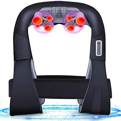 MKLLIJD Real Beheizte Massagegerät mit Wärme tief kneten Massage und individuell gestalteten Gürtel, vollen Körper entlastet Schmerz Rücken Schulter Massage
