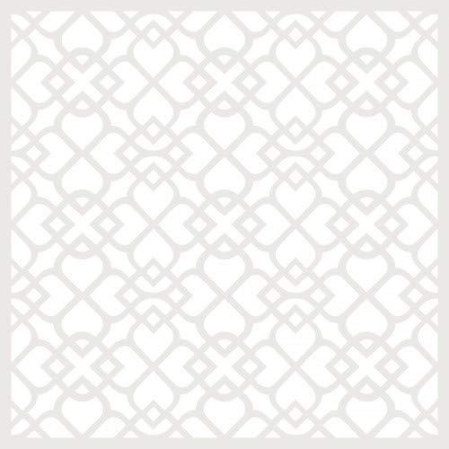 TODO-STENCIL Deco Fondo 131 Celosia Medidas exteriores: 20x20 Medidas internas diseño 18 x 18 cm
