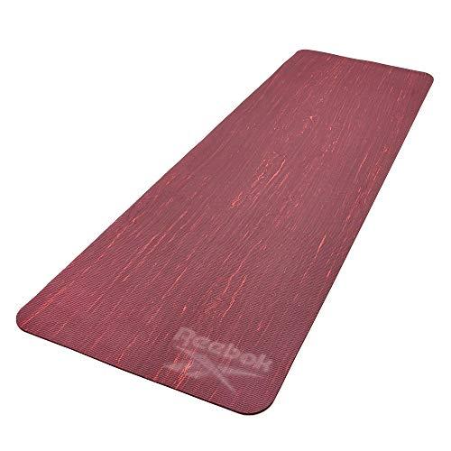 Reebok Unisex-Erwachsene Matte-5mm Tarn Yoga Matte-5mm-Rot/Maron, Rot/Maron, 5mm