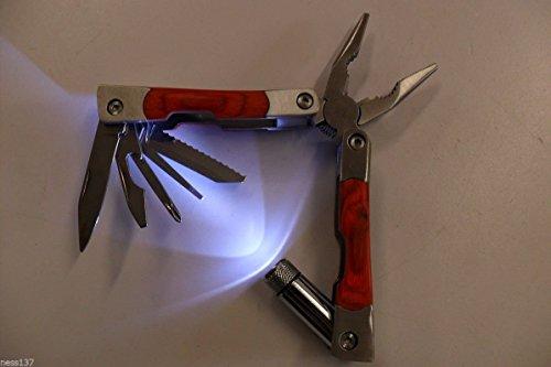 La Petite Caverne- Pince Multifonction Couteau Pince Scie Etui Camping Chasse Peche Bivouac Scout