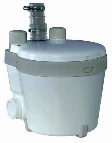 Setma Brauchwasser-Hebeanlage Watersan 10 bis 40° C., ohne WC-Einlauf, energiesparendes APFS-System, für Dusche, Waschtisch, Spüle