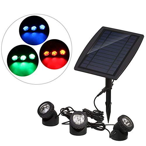 Lixada Solarspots, 3 Scheinwerfer, 18 LEDs Unterwasser Lampen Außenbeleuchtung