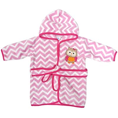 Neat Solutions Applique Print Coral Fleece Bath Robe