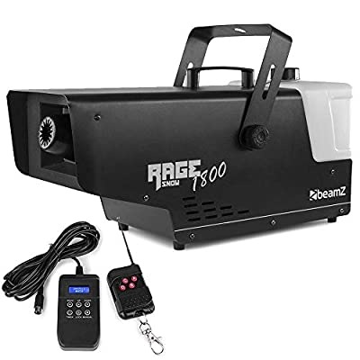 beamz RAGE 1800 High Powered Artificial Snow Machine 3.5L with Wireless Timer Control *2019 Model*