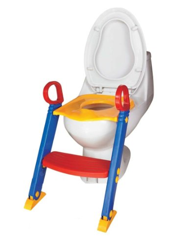 Mummy Hug Baby Toddler Ladder Step Potty Training Toilet Seat / Potty train ladder Toilet seat/Foldable Toilet Training Ladder Space Saving/ Gripper Handles For Stability And Confidence. by Mummy Hug?