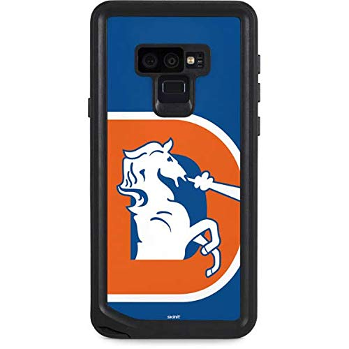 Skinit Waterproof Phone Case Compatible with Galaxy Note 9 - Officially Licensed NFL Denver Broncos Retro Logo Design