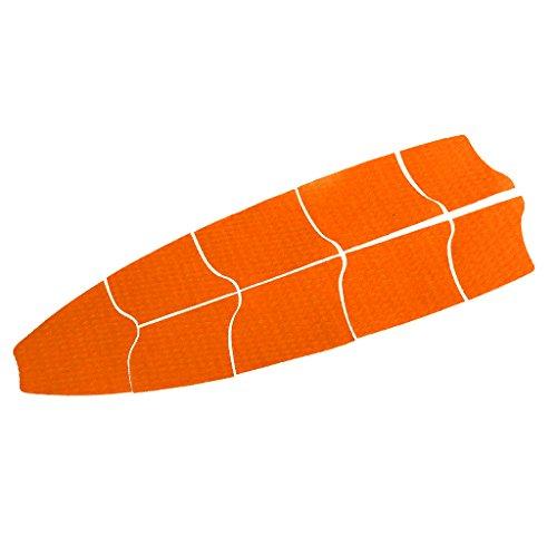 SM SunniMix Bulk 9 Sup Traction Pad, Stand Up Paddle Board Deck Grip - Hoja Antideslizante Y Recortable DIY - Gran Adición A Las Tablas - 6 Colores para Elegir - Naranja