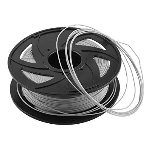 Impresora Premium de 1.75 mm PLA Filamento 3D Material de impresión Suministros Rollo Adecuado para la mayoría de las impresoras 3D Dibujo 3D - Gris claro