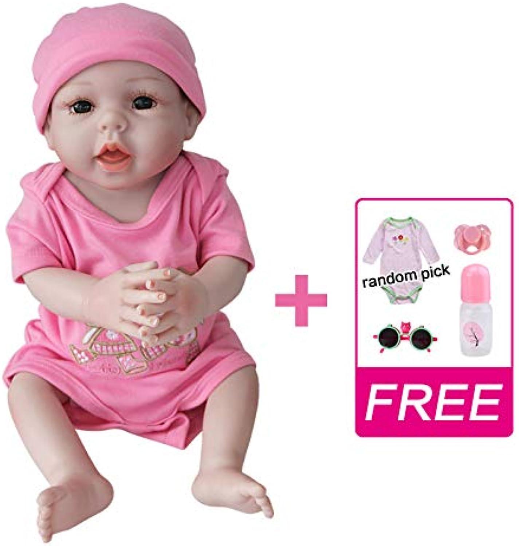 UCanaan Reborn Baby Dolls Silicone Full Body 20 Inch Handmade Lifelike Realistic Newborn Soft Vinyl Baby Doll  bluee Eyes Girl