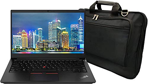 Lenovo ThinkPad E14 Gen 2-are 20T6002LUS 14 inch Notebook PC Bundle with Ryzen 5 4500U, 8GB DDR4, 256GB SSD, Radeon Graphics, Webcam, Stereo Speakers, Microphone, Windows 10 Pro, and Laptop Bag