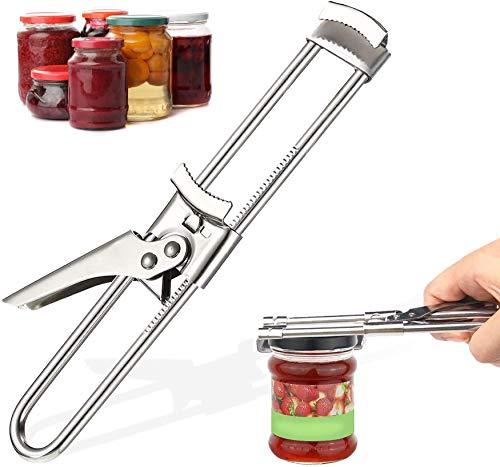 NXACETN Dosen Deckelöffner,Manueller Marmeladenglasflaschen-Dosenöffner Edelstahl für die Küche Frühstücksdeckelentferner für Senioren Schwache Hände
