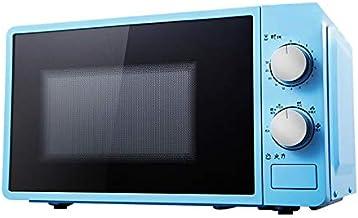 JINRU 20L Pequeño Horno De Microondas Multifuncional 220V Mecánico Giratorio Calentador De Cocina Cocina para Vapor/Calefacción/Ebullición,Azul