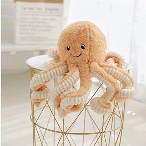 DaTun648 18cm kreative Nette Krake-Plüsch-Spielzeug Octopus Wal Puppen & Plüschtiere Plüsch Kleiner Anhänger Sea-Kissen-Kissen Als Geschenk für Kinderplüschtiere (Color : Brown, Specification : 18cm)