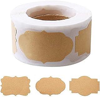 nuoshen Lot de 300 étiquettes autocollantes en papier pour cadeaux, bocaux et pâtisseries - 3 x 5 cm
