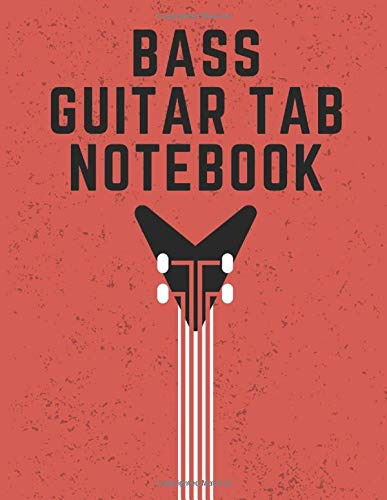 Bass Guitar Tab Notebook: 4 String Bass Guitar Tablature Notebook (8.5' x 11' - 150 Pages)