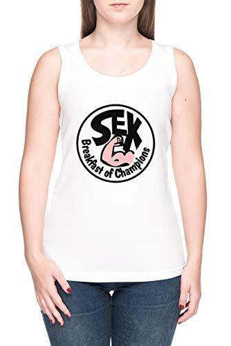 De Colores Desayuno Tardío De Campeones Mujer Camiseta De Tirantes tee Blanco Women's White Tank T-Shirt